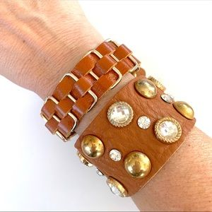 Jewelry - Set of 2 Vegan Friendly Leather Bands